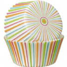 Multicolour Stripe Baking Cases